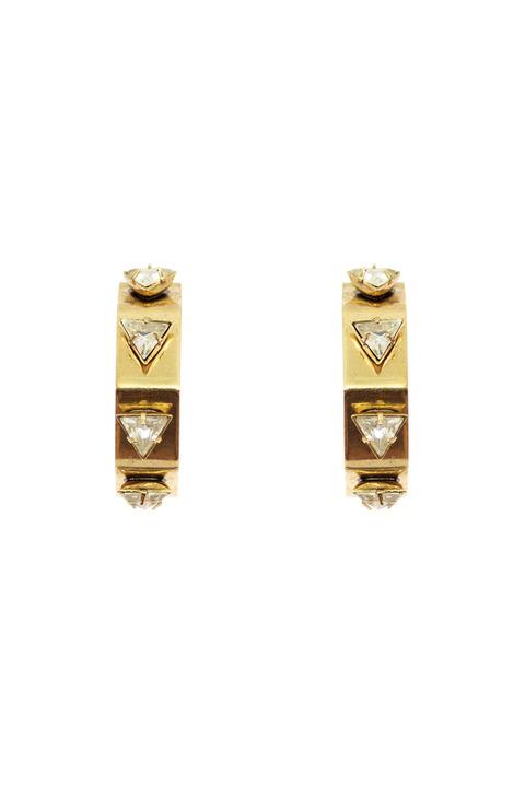 Nicole Romano Triangle Geometric Hoop earrings