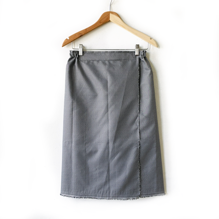 AKIKO TSUJI Wind Wrap Skirt - Micro Gingham