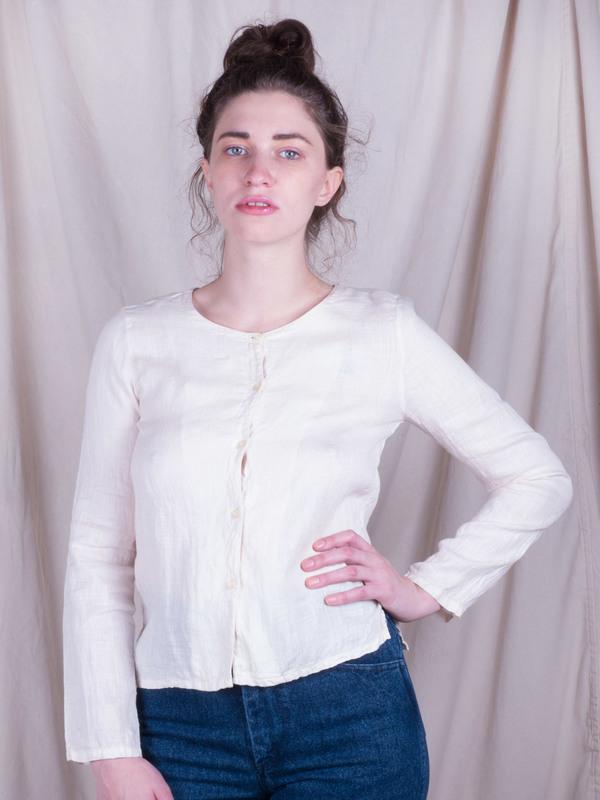 Woods Vintage Linen Buttondown Top