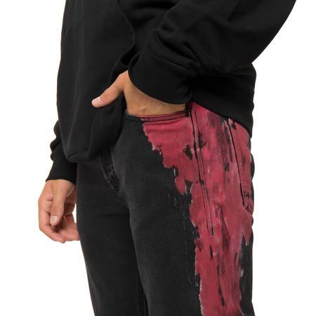 MARCELO BURLON Tie dye biker jeans - Black/Red