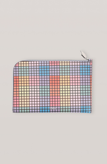Ganni Leather Wallet - Rainbow