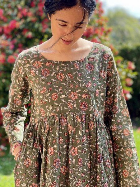 priyawear Samara Dress - Olive
