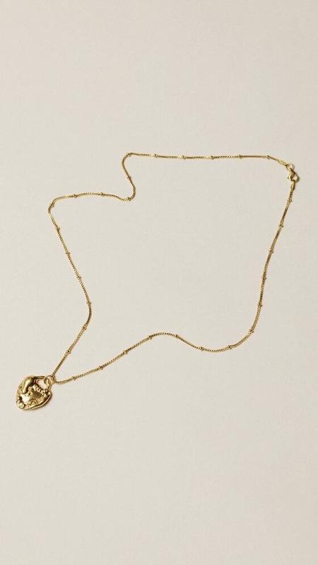 Pamela Card Unveiled Love Necklace - Gold