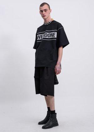 we11done Reflective Logo T-Shirt - Black