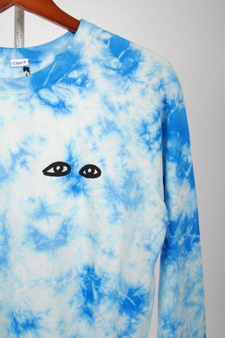 Clare V. Sweatshirt - Blue Tie Dye/Eyes