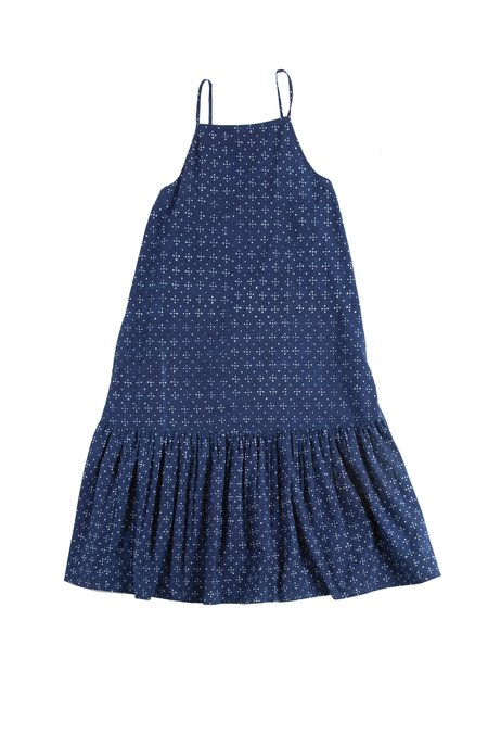 Voloshin Vintage Fabric Midi Sundress - Indigo