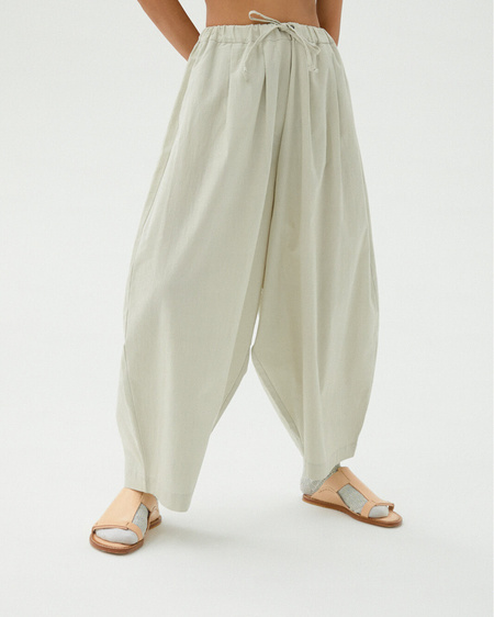 Monica Cordera Maxi Pants - Pale Grey