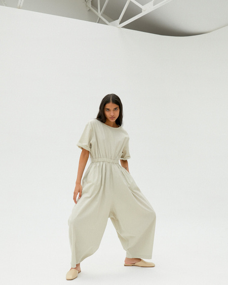 Monica Cordera Jumpsuit - Pale Grey