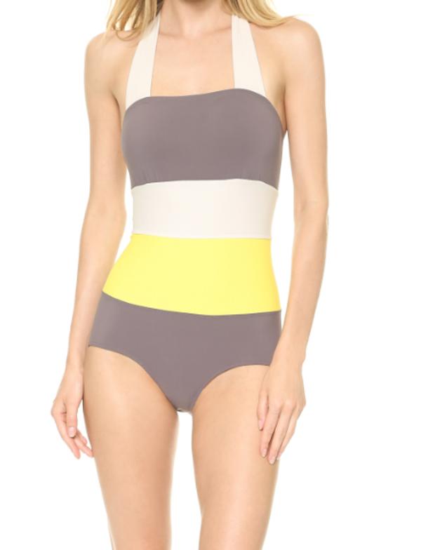 VPL Bandage Swim Suit - Sunshot Lemon Lime