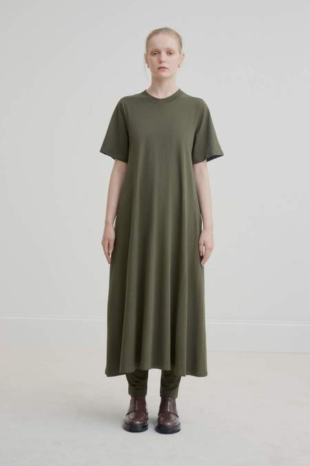 Kowtow Tee Shirt Swing Dress - Dark Green