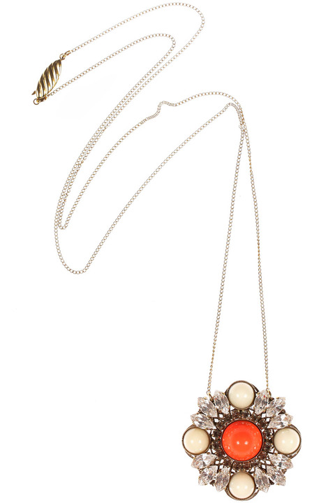 Anton Heunis Crystal Cabochon necklace