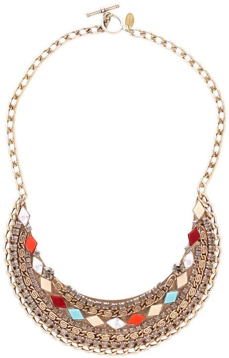 Anton Heunis Mosaic Embellished Bib necklace