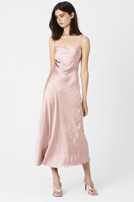 Third Form Lace Back Bias Slip Dress - Rose