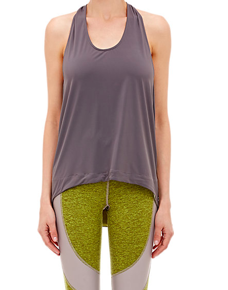 Exertion Tank: Grey (lined with lemon lime inside the hem)