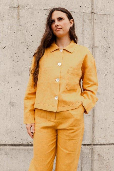 Paloma Wool Berlin Linen Jacket - Ochre Mustard