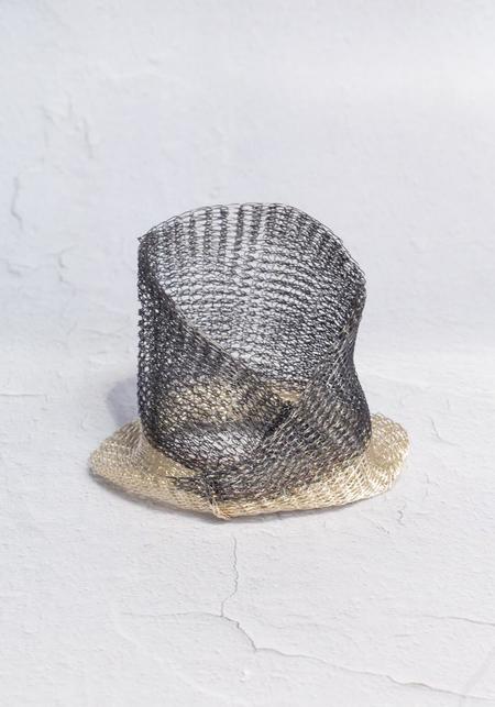 Milena Zu Twisted Woven Plated Brass Bangle - Silver