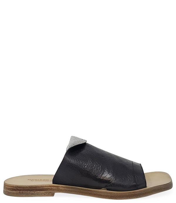 Madison Maison By Silvano Sassetti Leather Sandal - Black/Silver