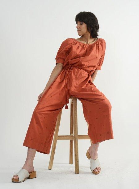 Meg Barragan Jumpsuit - Terracotta