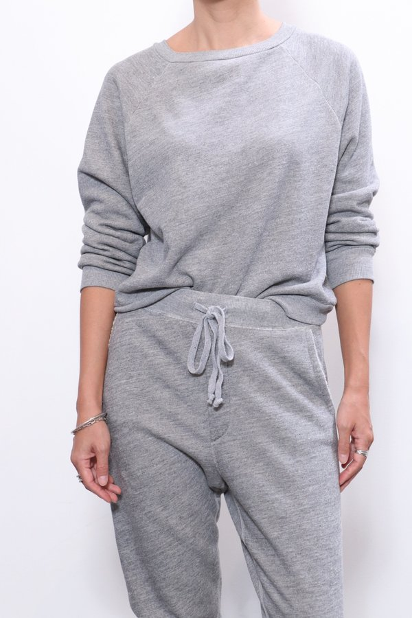 Nili Lotan Classic Crew Neck Sweatshirt - Heather Grey