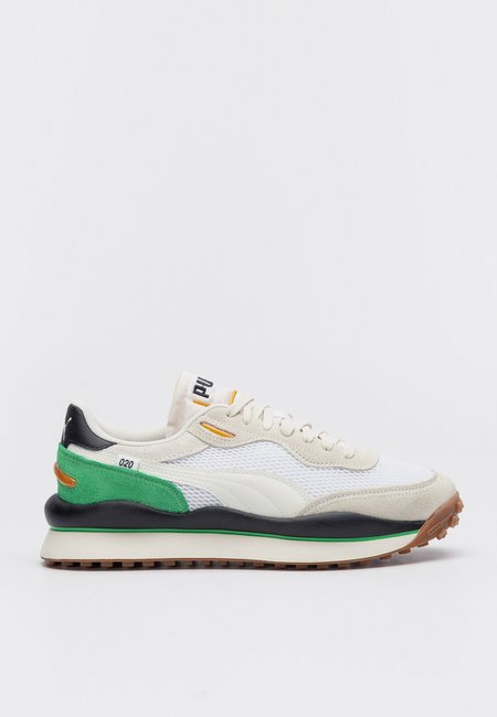 Puma Style Rider Stream On Sneakers - White/Vaporous
