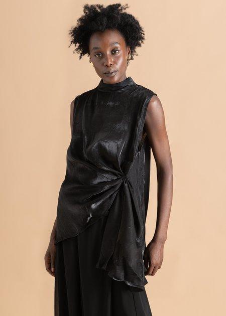 Onalaja Dito Asymmetrical Silk Top