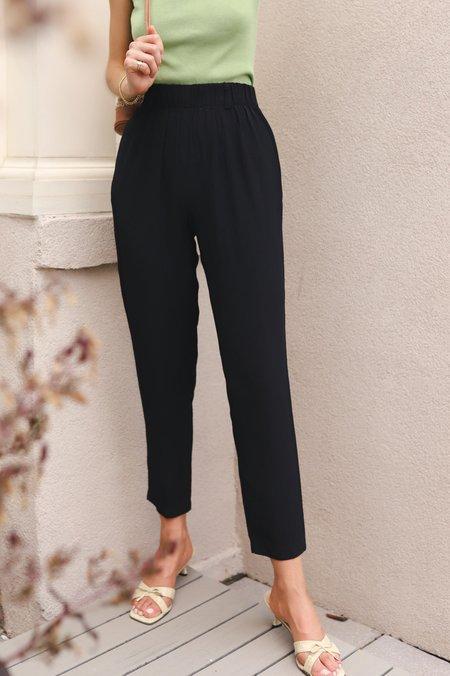 Vintage Satin Trousers - Black