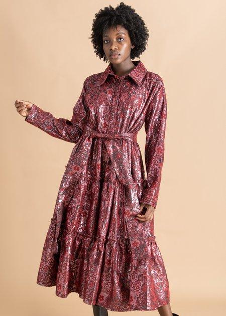 Onalaja Naddie Jacquard Shirt Dress