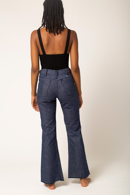 Preservation Vintage High Rise 70's Style Flare Jeans