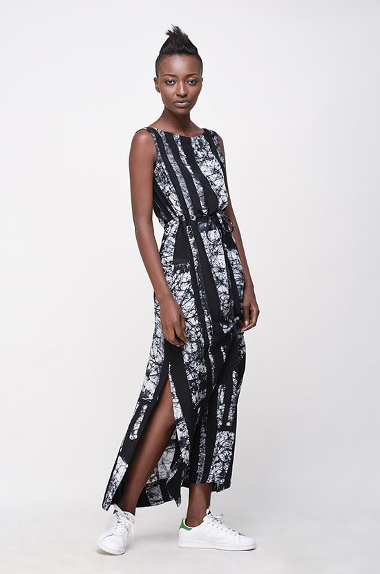 Osei-Duro Guise Maxi Dress in B&W Parallel
