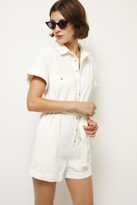 Rollas Horizon Playsuit - Vintage White
