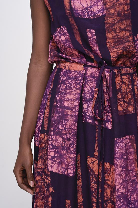 Osei-Duro Guise Maxi Dress in Carmine Streak