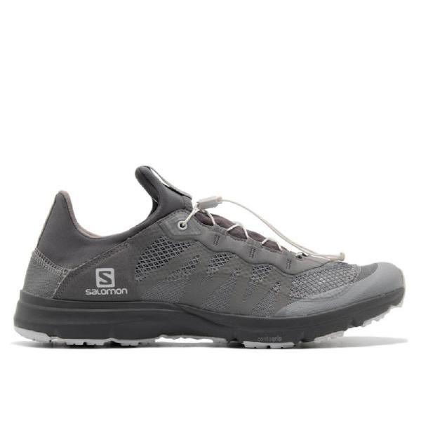 And Wander x Salomon Reflective Mesh Sneakers - Gray