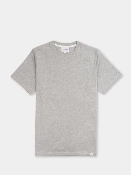 Norse Projects Niels Standard SS Tshirt - Light Grey Melange