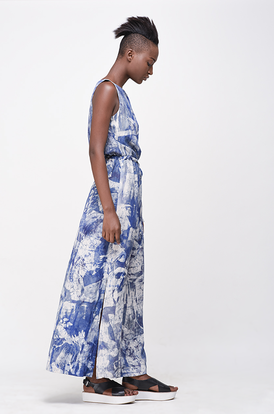 Osei-Duro Guise Maxi Dress in French Abstract