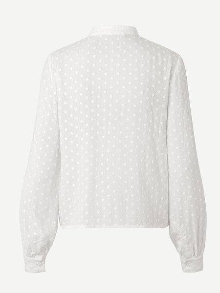 Samsoe & Samsoe Jossie Shirt - Blanc de Blanc
