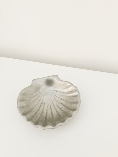 Vintage Pewter Shell Dish