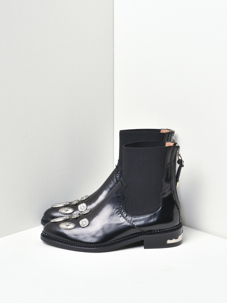 Toga Pulla Leather/Suede Hardware Boots - Black
