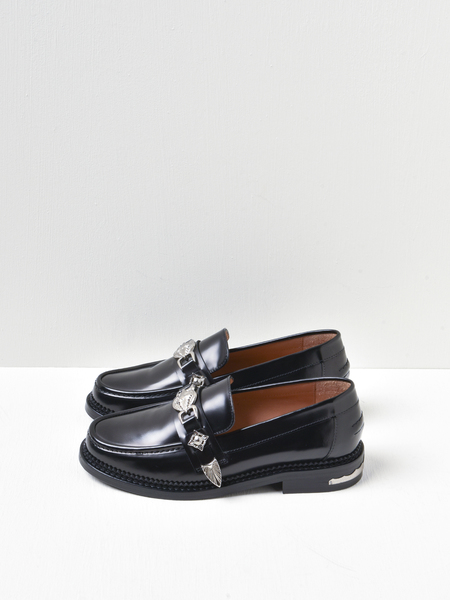 Toga Pulla Leather Loafers - Black