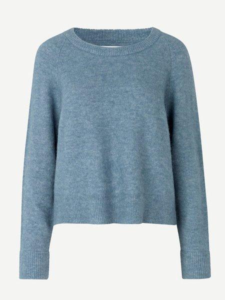 Samsoe & Samsoe Nor O-N Short Knit - Blue Mirage