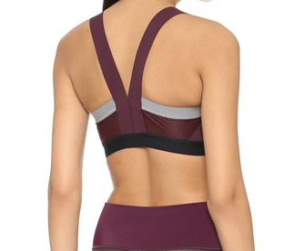 VPL Insertion Bra W: EGGPLANT MARL