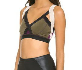 VPL Insertion Bra W: Military x Eggplant