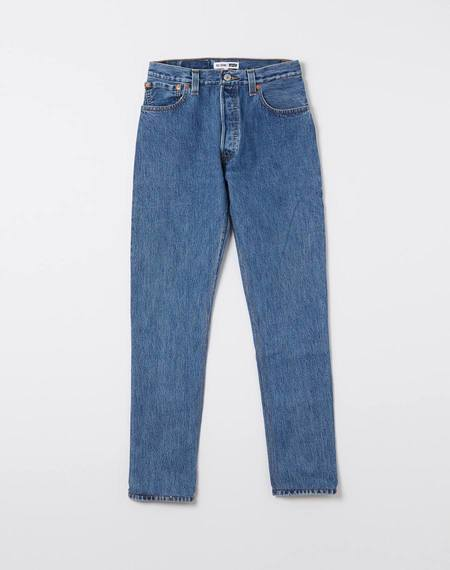 RE/DONE High Rise Indigo Jeans