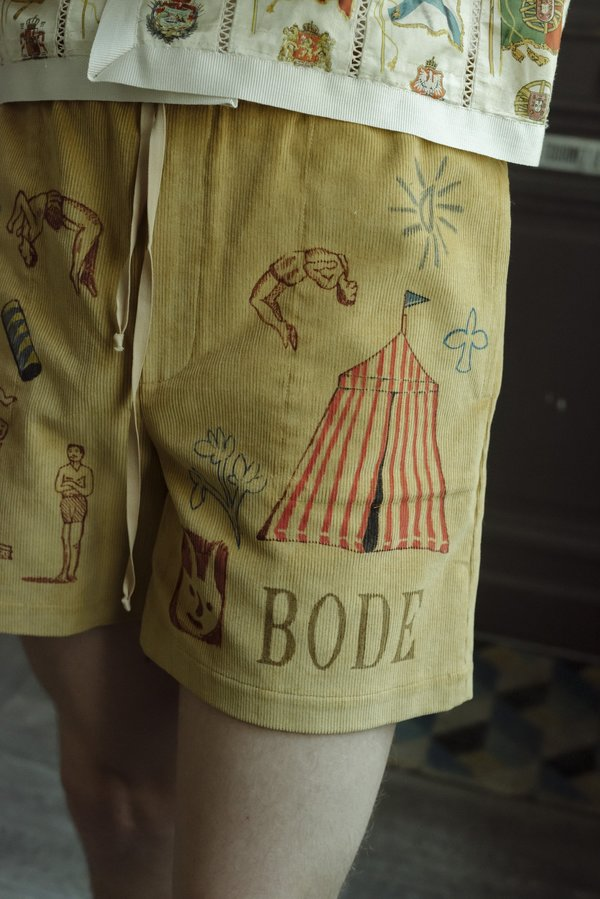BODE Hand Drawn Senior Cords Rugby Shorts