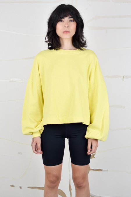 Back Beat Co. Puff Sleeve Sweatshirt - Lemon