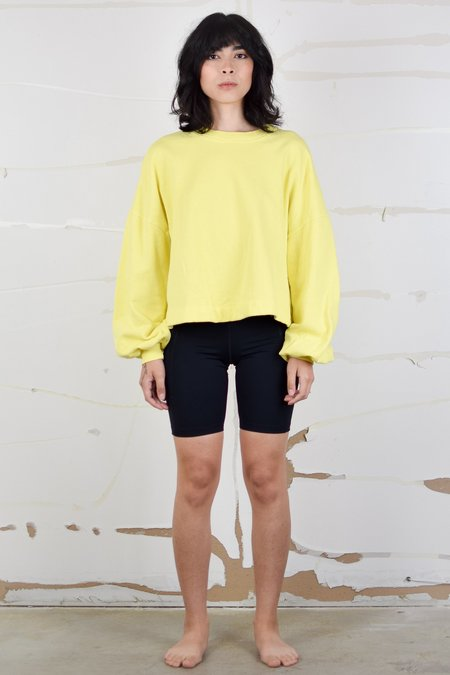 Back Beat Co. Puff Sleeve Sweatshirt - Lemon