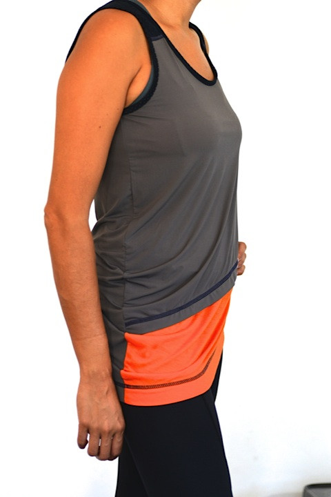 VPL Neo Isoterlus Tank: Grey x Caution Orange