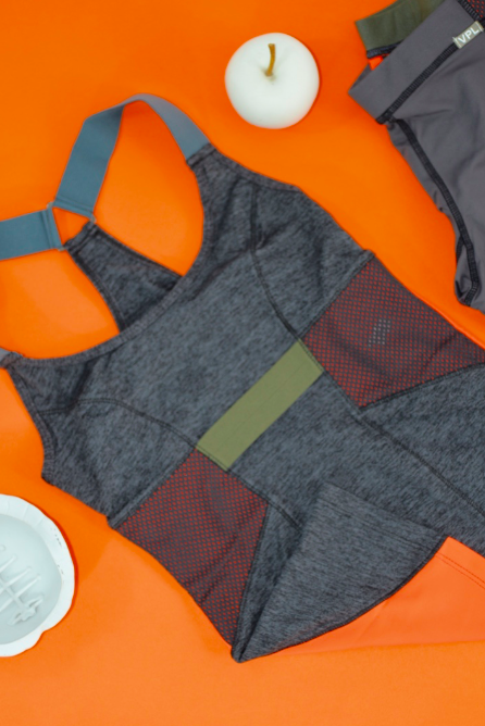 VPL Neo Overall Tank Shelf: Charcoal Marl x Caution Orange