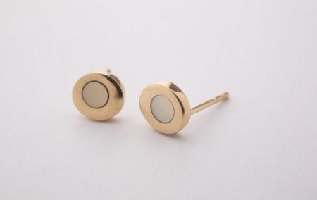 Takara Sea Stud Earrings With Inlay