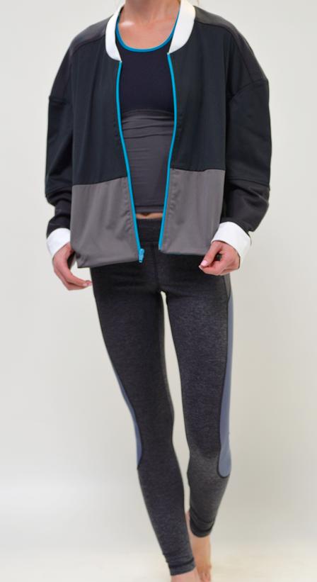 VPL Panopoly Jacket: Black & Turquoise Zipper