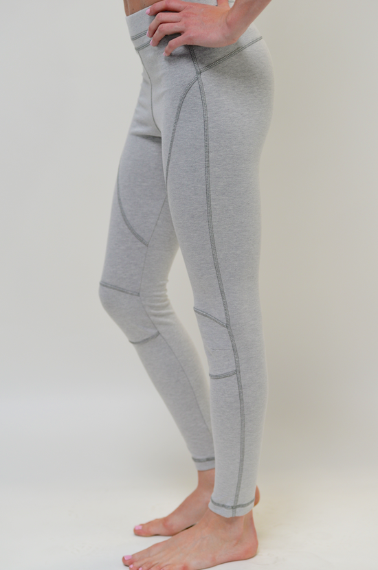 VPL Patella Legging: Heather Grey